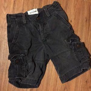 Boys Abercrombie Fitch Cargo Shorts 10 Navy Blue
